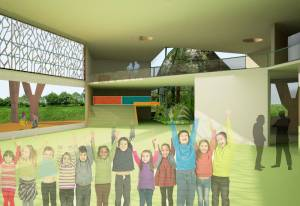 Scoala Verde Leonardo Gifted School. Randare Interior