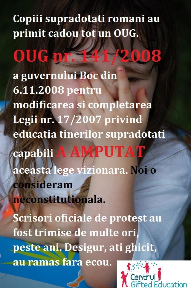 Legea 17/2017 amputata de un OUG. Copiii supradotati privati de drepturile lor de 10 ani.